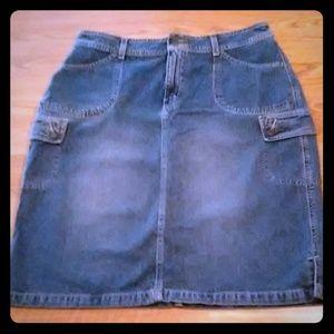 Eddie Bauer Blue Jean Skirt